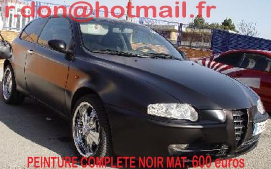 Alpha Romeo 147 noir mat, Alpha Romeo 147 mat