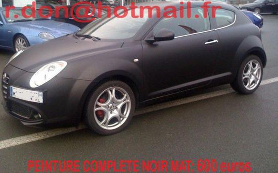 Alfa Romeo Mito noir mat, Alfa Romeo Mito mat