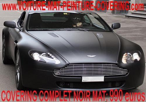 noire mate, aston noir mate, noir mate voiture, voiture noir mate