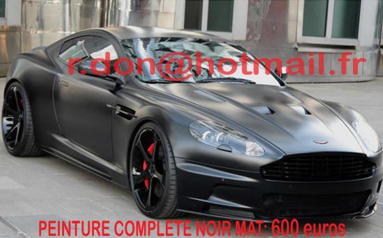 Aston Martin DB9 noir mat, Aston Martin DB9 covering peinture noir mat