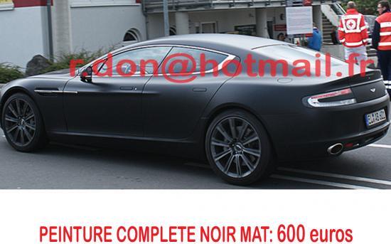 Rapide noir mat, Aston Martin Rapide noir mat