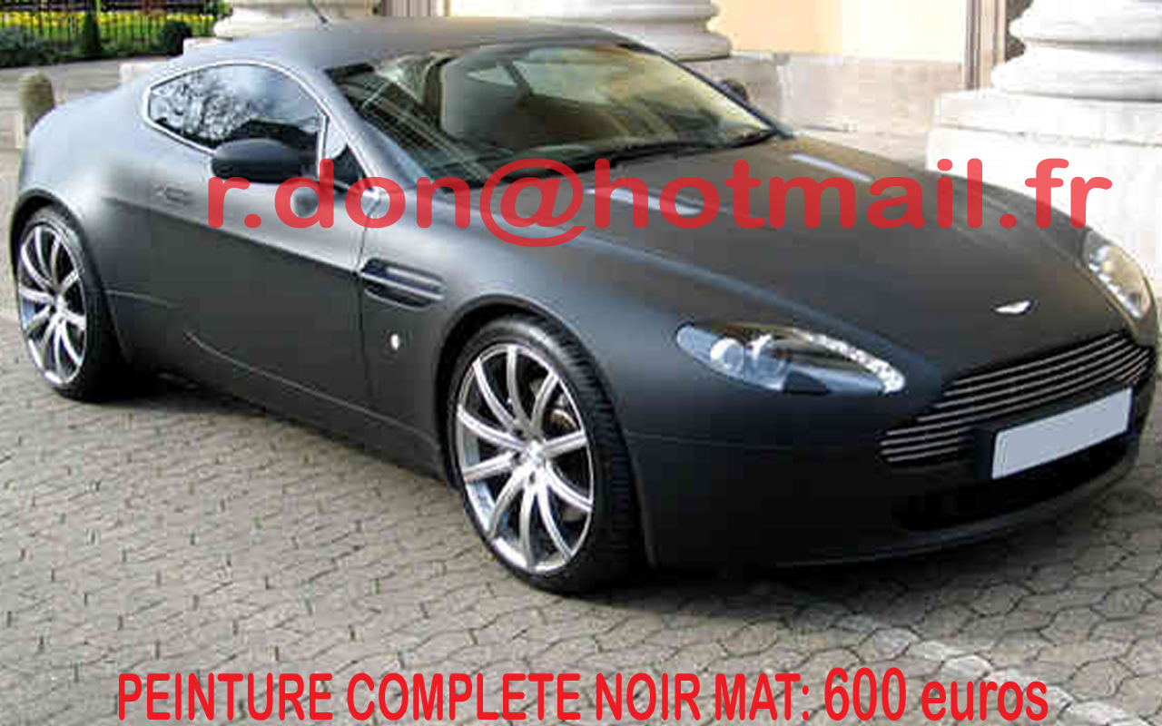 aston martin vantage noir mat aston martin vantage noir. Black Bedroom Furniture Sets. Home Design Ideas