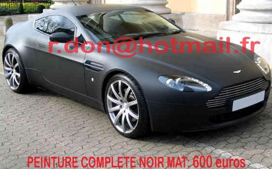 Aston Martin Vantage noir mat, Aston Martin noir mat