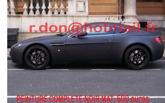 Aston Martin Vantage noir mat, Aston Martin Vantage noir mat