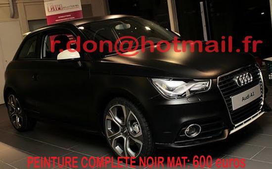 Audi A1 noir mat, Audi A1 noir mat, Audi A1 mat