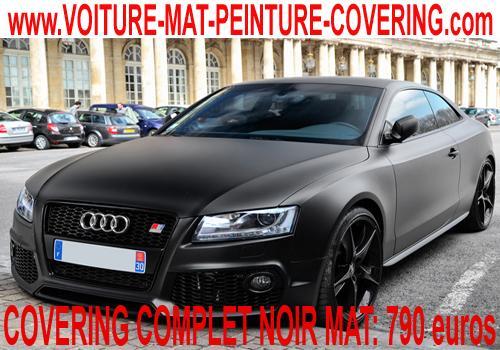 voiture couleur carbone, peinture matte, voiture matte