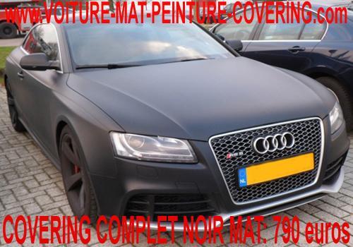voiture matte, couleur matte, film covering mat, peinture mat