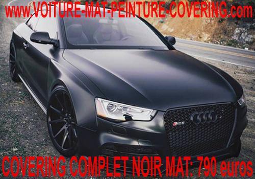 autocollant mat voiture, peinture voiture gris mat, voiture noire mat