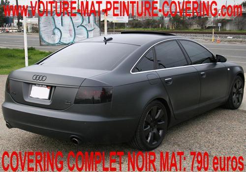 covering voiture mat, mat voiture, covering noir mat, vinyle noir mat