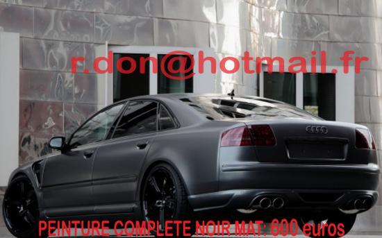 Audi A6 noir mat, Audi A6  noir mat, Audi A6 mat