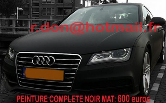 Audi A7 noir mat, Audi A7 noir mat, Audi A7 mat