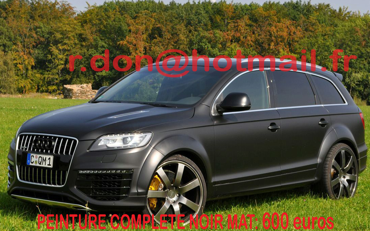 audi q7 noir mat audi q7 noir mat audi noir mat audi q7 covering noir mat audi q7 peinture. Black Bedroom Furniture Sets. Home Design Ideas