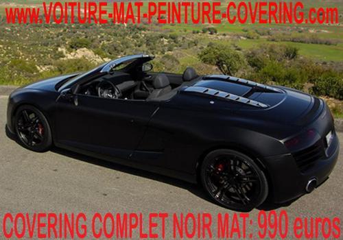 Le noir mat donnera un style supplémentaire à votre voiture.