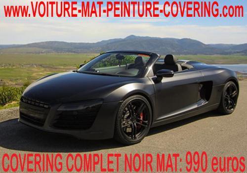 Recouvrez toute votre carrosserie en noir mat!