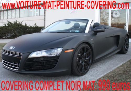 Avec notre film noir mat, vous avez le produit idéal pour votre auto!