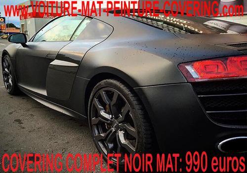 Le film noir mat apportera une touche rare à votre voiture.