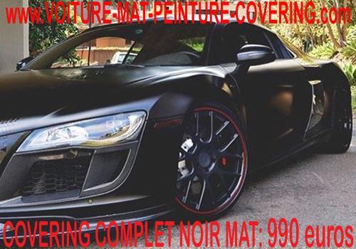 Le film Covering noir mat assure à votre auto un look racé.