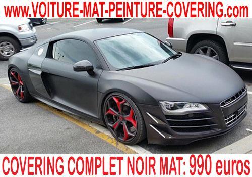 Avec le covering noir mat, vous personnalisez votre véhicule