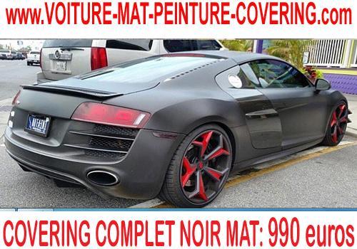 Le sticker noir mat représente une option qui convient aux véhicules