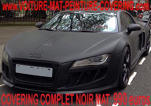 Personnalisez votre véhicule grâce film de covering noir mat.