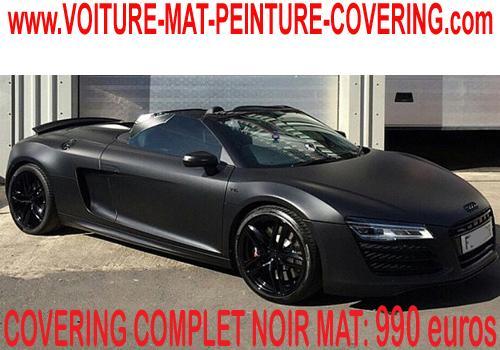 Donnez un look ultime à votre véhicule avec le noir mat.