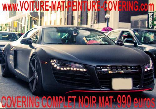 Film covering couleur noir mat pour voiture