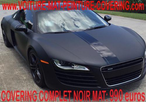 Le film Covering de couleur noir mat pour une voiture unique