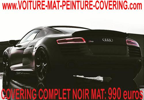 Le covering noir mat pour le covering est un must have.