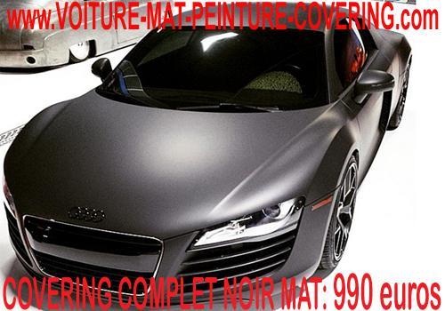 Le Covering d'aspect noir mat sert à embellir votre voiture.