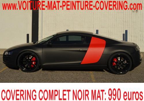 Votre voiture vous parait terne? Le noir mat est fait pour vous.