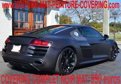 Réalisez votre Car Wrapping total ou partiel avec du noir mat.