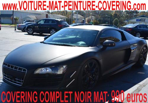 Le covering noir mat remplacera la couleur d'origine de votre auto.