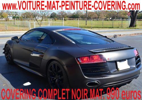 Passez au  covering noir mat  pour un covering total de votre auto.