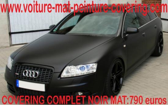 Le noir mat différenciera votre vehicule de tous les autres.