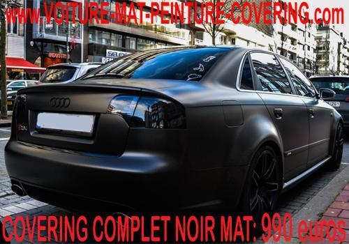 Imaginez votre véhicule dans un noir mat du plus bel effet!