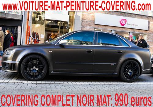 Avec le noir mat sur votre carrosserie: Luxe et sportivité assurés.