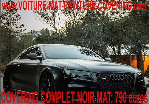 Le covering noir mat vous permettra d'avoir une voiture spéciale.