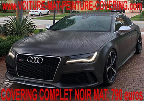 Le covering noir mat donnera un look chic à votre voiture.