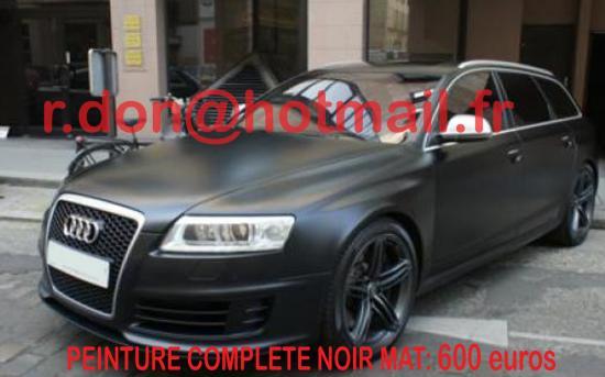 Audi RS6 noir mat, Audi RS6 noir mat, Audi noir mat