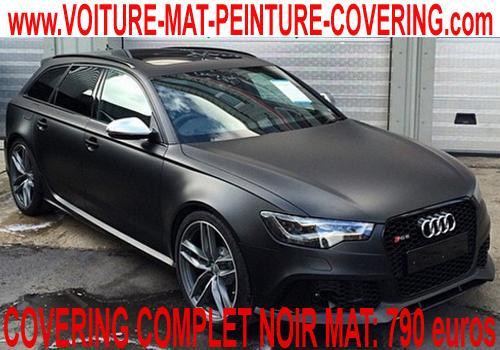 Faites un covering noir mat pour donner à votre auto un look dément!