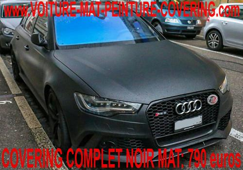Le covering noir mat conferera un aspect unique à votre véhicule.