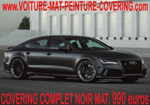 Le covering noir mat sur votre auto lui donnera un aspect sportif.