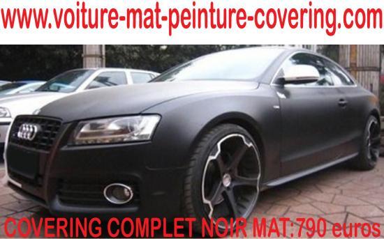 Le must de la personnalisation des véhicules : le covering noir mat.