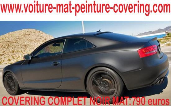 Le noir mat est une option convoitée pour les fanas de voiture.