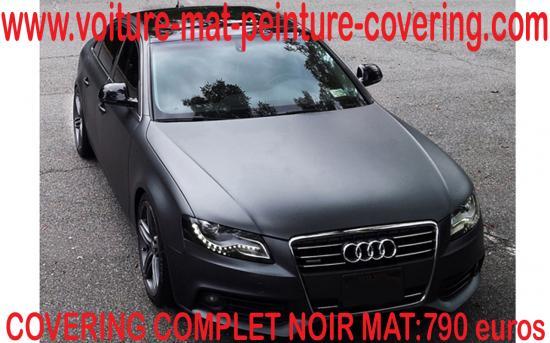 Le noir mat  est LA couleur ultime pour un covering parfait.