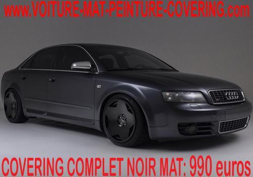 La meilleure solution pour le covering de votre véhicule: le noir mat.