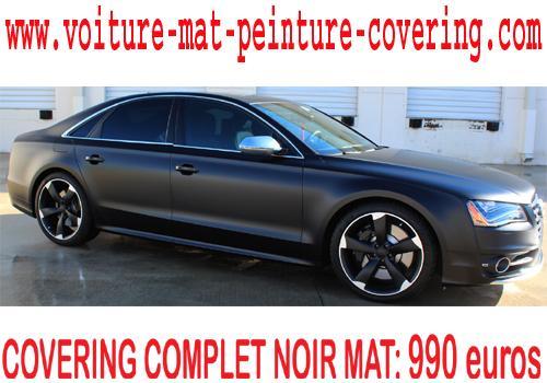 Donnez un look distinctif à votre véhicule avec le noir mat.