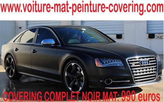Pour les amateurs, le total covering noir mat est très tendance.
