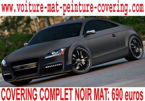 Le Covering noir mat permet d'obtenir une couleur mate de qualité.