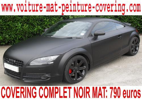 Vous voulez faire tourner les têtes? Imaginez votre auto en noir mat.